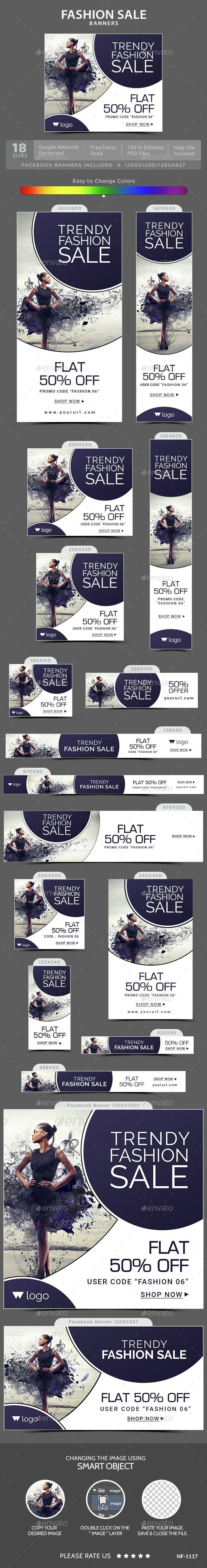 Fashion Sale Web Banners Template PSD. Download here: http://graphicriver.net/item/fashion-sale-banners/15023462?ref=ksioks