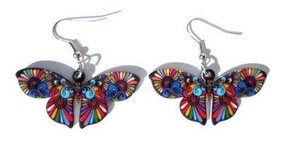Kolczyki Motyl, motyle - wzór nr 1