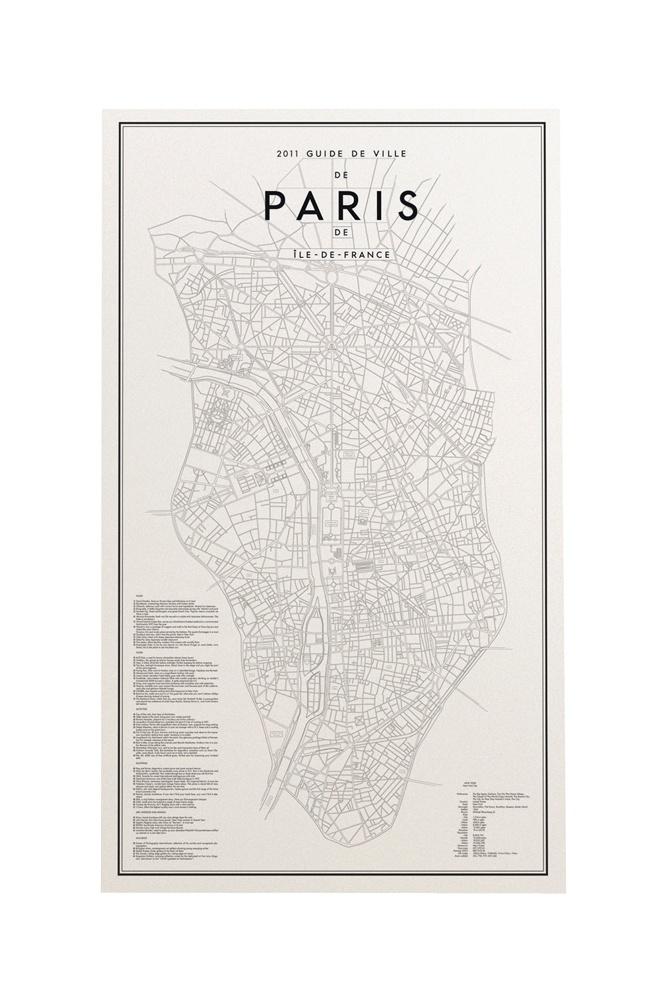poster paris karta Guide to Paris Affisch from Ehrenstråhle Wågnert. Design by David  poster paris karta