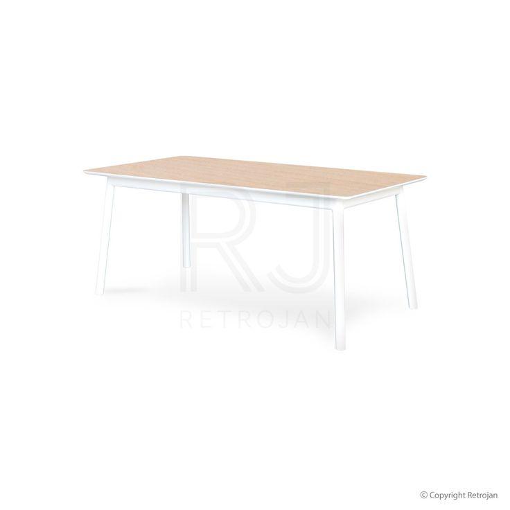 Buy Eva Scandinavian Style Dining Table - Light Natural/ White Online