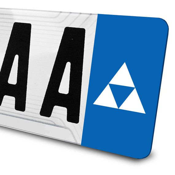 Sticker Triforce - Zelda - pour plaques d'immatriculation