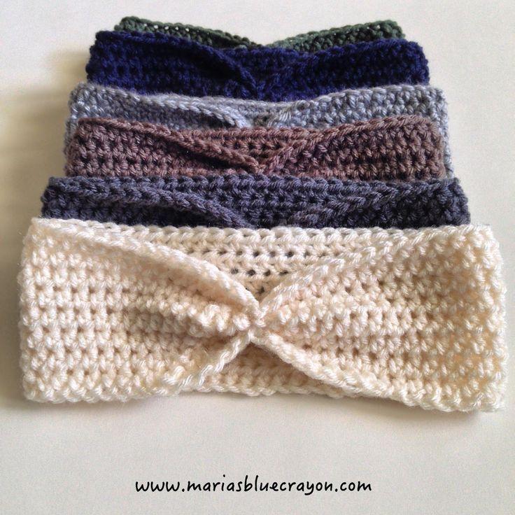 Beginner Crochet Ear Warmers - Maria's Blue Crayon