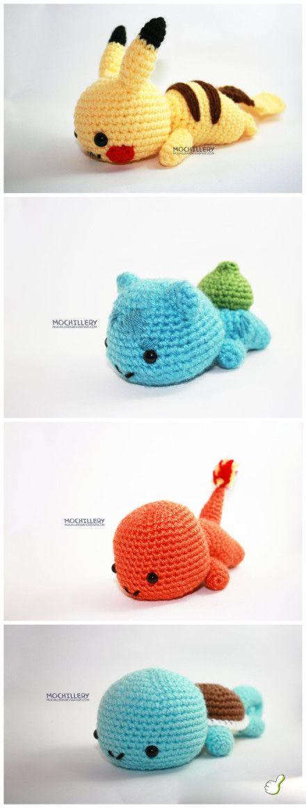#Amigurumi plushies - these are so adorable! #crochet #pikachu
