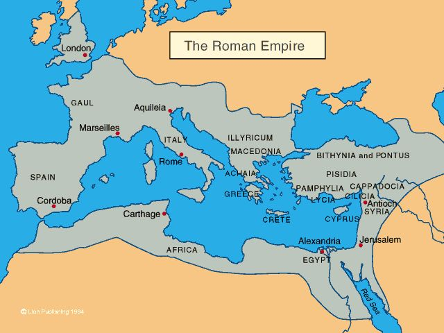 The Ancient Roman Empire in comparison to the modern day map.  http://crabberworldhistory.wikispaces.com/Ancient+Rome#  2012