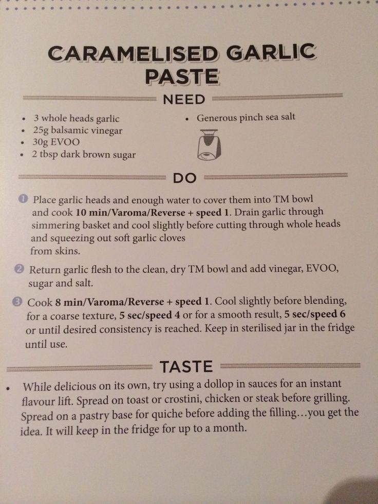 Caramelised garlic paste