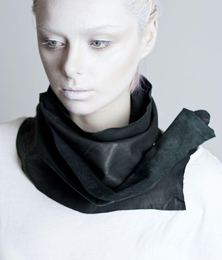 M I S B E H A V E leather scarf