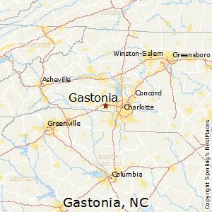 Gastonia,North Carolina Map