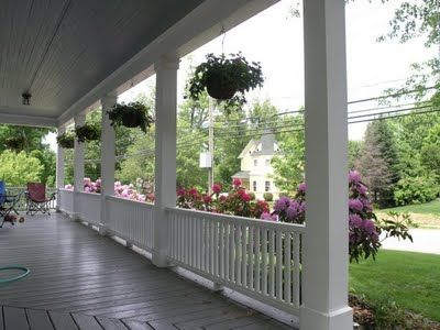 Build your own porch railings home ideas pinterest for Wrap around porch columns