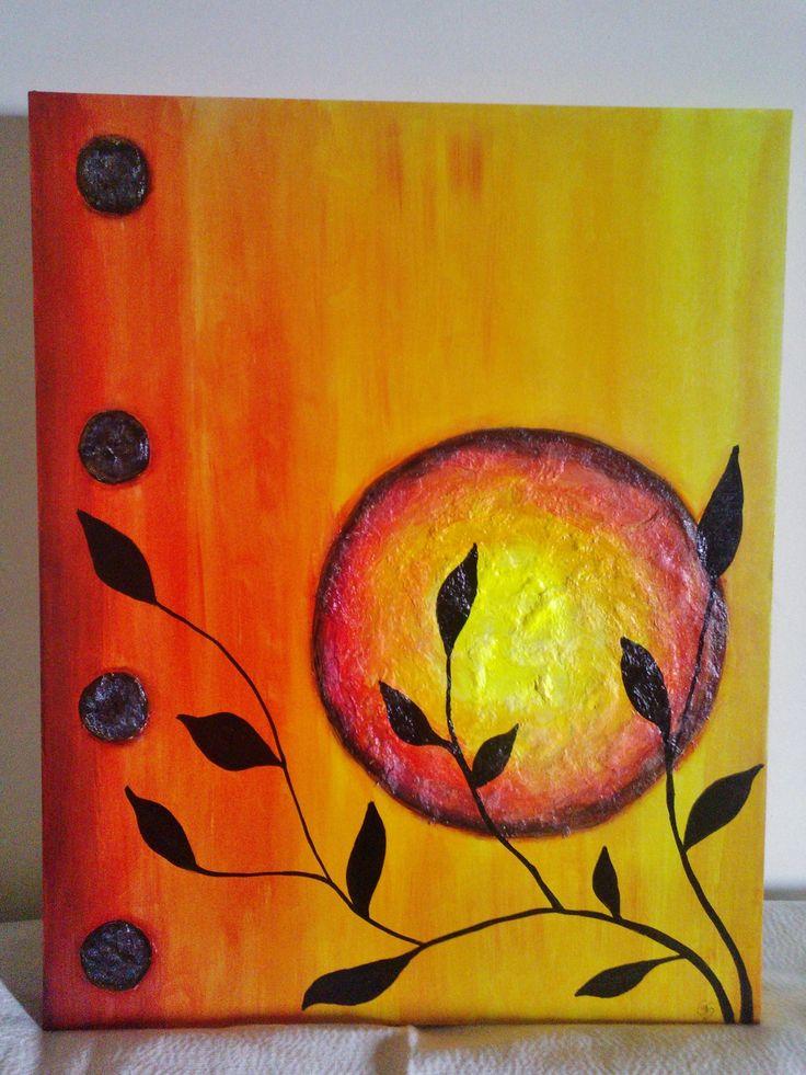 En colores c lidos cuadros que visten tu ambiente - Colores frios y colores calidos ...