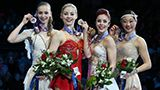 Polina Edmunds, Gracie Gold, Ashley Wagner, and some other lady i will find name for right now...