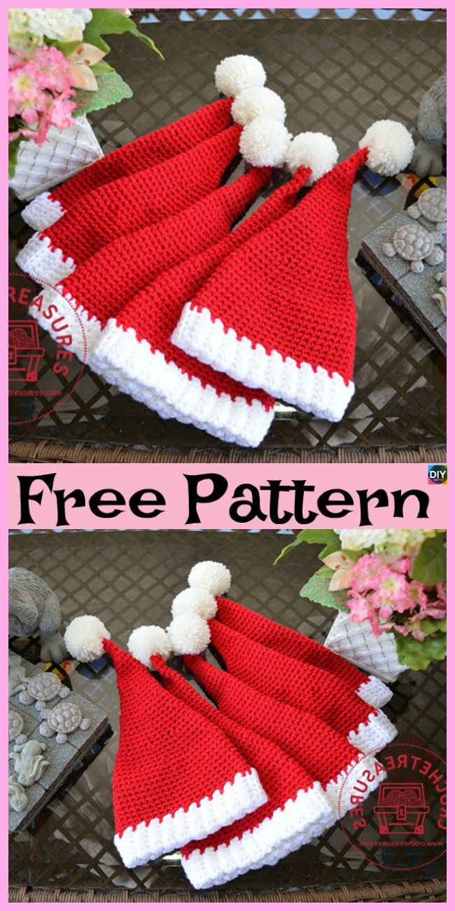 10 Crochet Christmas Hats – Free Patterns LeAnn Jones