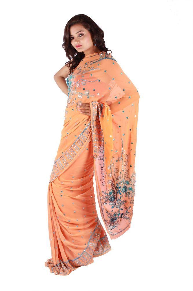 Indian Ethnic Bollywood Designer Saree Party Wear Traditional Dress Wedding #lehngasarees #SARI