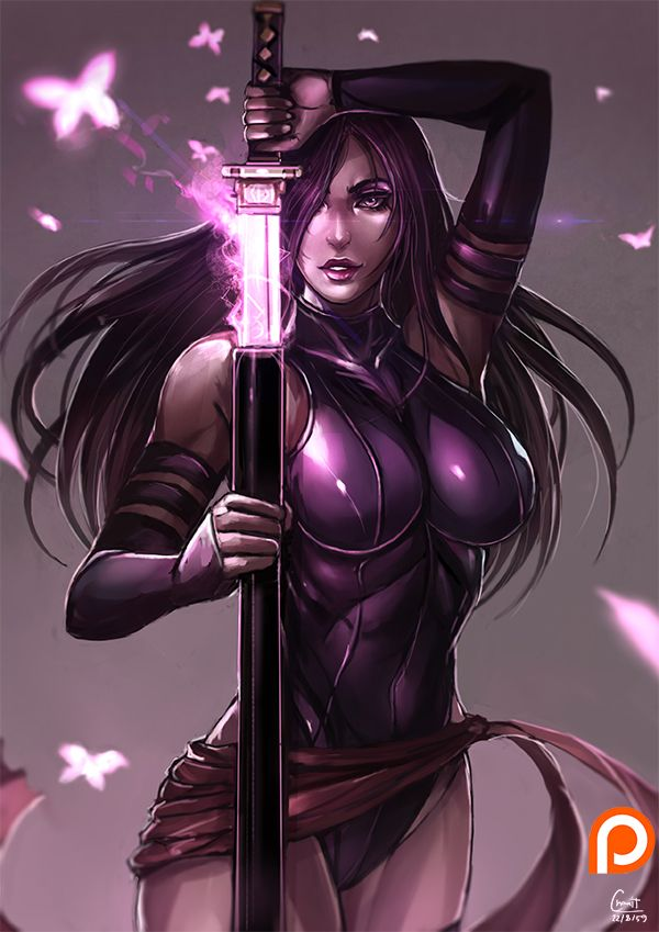 Patreon vote event no. 15 1st high score vote  character : Psylocke [Marvel , X-men] ..............................................................................................................