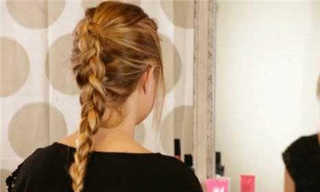 The inside-out French braid, or Dutch braid, is just as easy to achieve as a basic French braid. #Braids #DutchBraid
