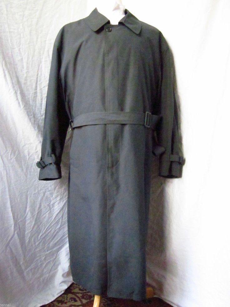 Coat Trench 44 R London Fog Raincoat Winter Zip Out Liner Overcoat Green Mens - eBay Seller Username janna!