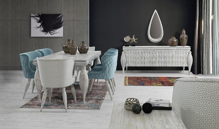 inegöl mobilya Rios Yaşam Odası Mavi