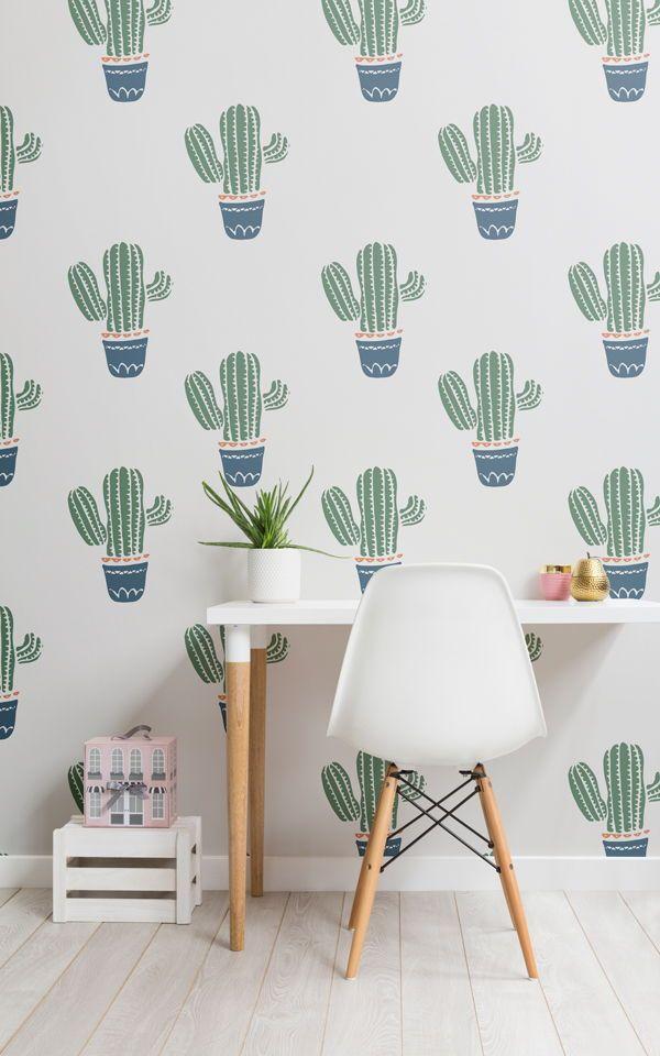 Carta Da Parati Murale Per Bambini Con Cactus Sfondi Di Carta Da