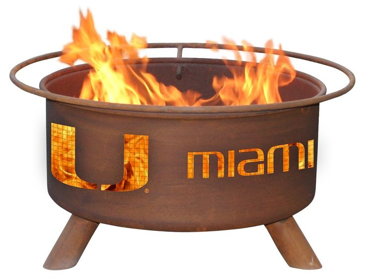The Fire Pit Store - Patina Products - University of Miami College Fire Pit - F225, $249.99 (http://www.thefirepitstore.com/patina-products-university-of-miami-college-fire-pit-f225/)