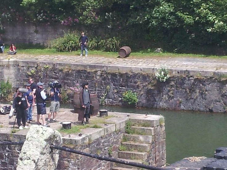 Aidan Turner, in Charlestown for #Poldark Via https://www.facebook.com/WinstonGrahamAuthorOfPoldarkAndSoMuchMore?fref=photo
