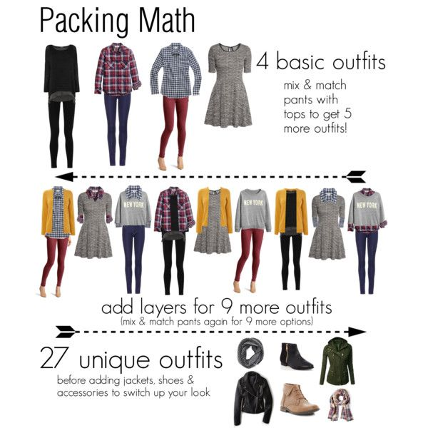 Packing math by reneecutaia on Polyvore featuring H&M, J.Crew, American Eagle Outfitters, MICHAEL Michael Kors, Emilio Pucci, Steve Madden, Oasis, Forever 21, Sole Society and Rich & Skinny