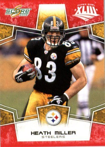 2008 Score Red SuperBowl Edition Football Card (only 2400 made) - #253 Heath Miller TE - Pittsburgh Steelers by Topps Update. $2.00. 2008 Score Red SuperBowl Edition Football Card (only 2400 made) - #253 Heath Miller TE - Pittsburgh Steelers