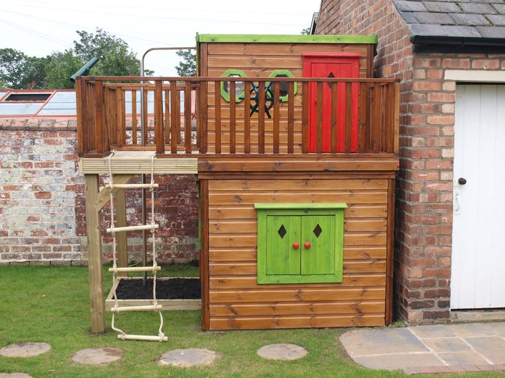 Shutters on Childrens Wooden Playhouse