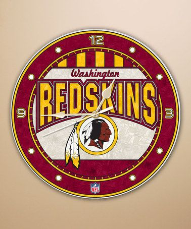 Take a look at this Washington Redskins Art Glass Clock by The Memory Company on #zulily today!