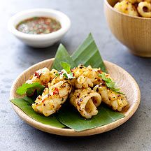 Grilled squid with Thai dipping sauce