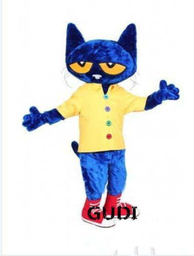 The lovely blue cartoon cat fancy dress party mascot costume