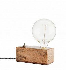 65eu Madam Stolz Wood Box Tafellamp