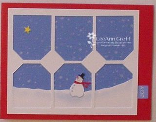 Tag punch window snowman