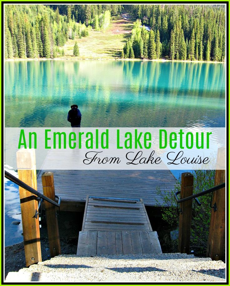 LAKE LOUISE TO EMERALD LAKE DETOUR. It is only 50km from Lake Louise on the Icefields Parkway in Alberta to Emerald Lake in Yoho National Park British Columbia. Your National Parks pass is valid in both parks. Emerald Lake is a mind-blowingly beautiful lake with emerald water and far less visitors than Lake Louise.