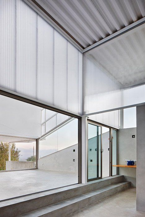 Each side of the house is clad in a specific variation of panelling and sheets of glass, depending on its orientation towards the sun, to help retain or lose heat.