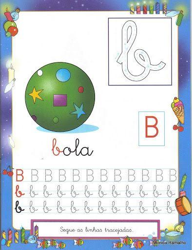 Aprender a traçar as letras do alfabeto
