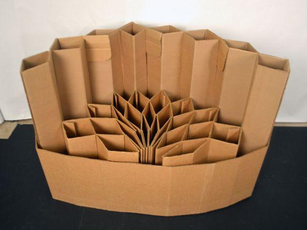 Modular Cardboard Chair by Joyce Lin, via Behance