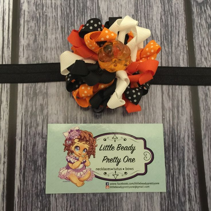 A bow to compliment the cutest little pumpkin in the patch.