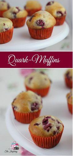 Easy Recipe: Delicious muffins with cherries - Schnelles und einfaches Rezept für Muffins mit Quark und Kirschen   Auch für Kindergeburtestage geeignet. http://www.the-inspiring-life.com/2017/01/food-abc-qu-quarkmuffins.html