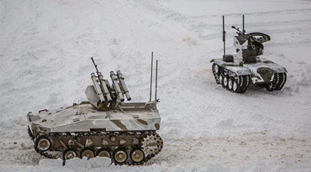 Ρωσικά τεθωρακισμένα drones σε δράση - Απίστευτο βίντεο