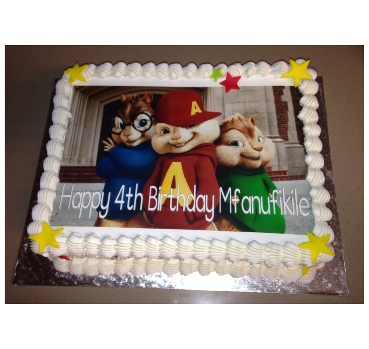 Alvin and the Chipmunks Edible Picture Cake