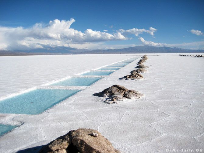 Salinas Grandes - Purmamarca - Jujuy - Argentina (salt desert that covers an area of 3,200 mi²)