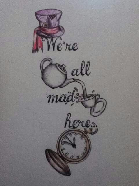 Mad Hatter tattoo credit to Teddy