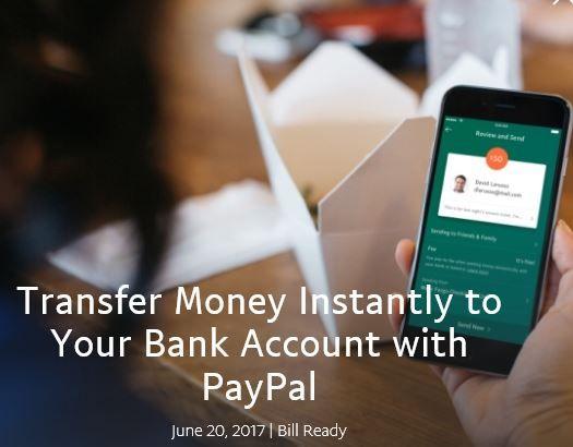 Neu bei PayPal: Sofort Geld vom Wallet auf das Bankkonto schicken - https://apfeleimer.de/2017/06/neu-bei-paypal-sofort-geld-vom-wallet-auf-das-bankkonto-schicken - Shortnews: Nachdem wir Euch nach wie vor nicht Neues hinsichtlich des Bezahlungsdienst Apple Pay für Deutschland berichten können, haben wir aber Neuigkeiten für Euch hinsichtlich des Online Wallets PayPal. Nicht nur hierzulande ist das Online Wallet das Mittel erster Wahl, wenn man im Netz...