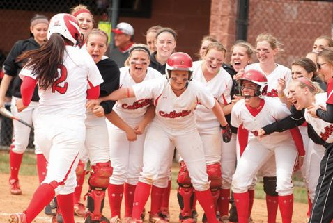 """""""It's Our Time!"""" The Era of Girl Power in the spring 2013 issue of The Catholic University of America magazine focuses on the anniversary of Title IX and the explosion of women's athletics at CUA."""