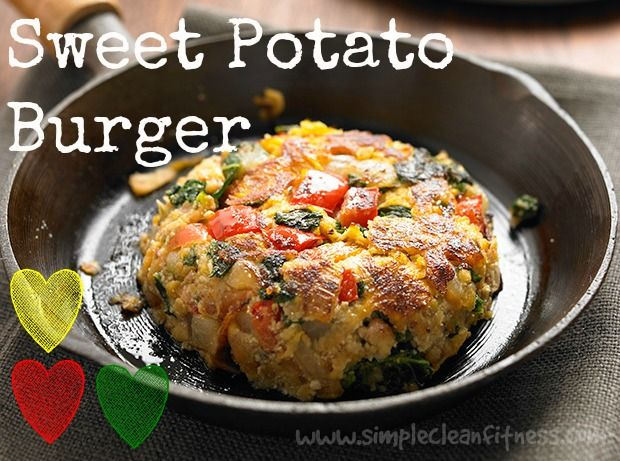 Sweet Potato Burger- 21 Day Fix Recipes - Clean Eating Recipes Healthy Recipes - Dinner - Lunch - 21 Day Fix Meals - www.simplecleanfitness.com