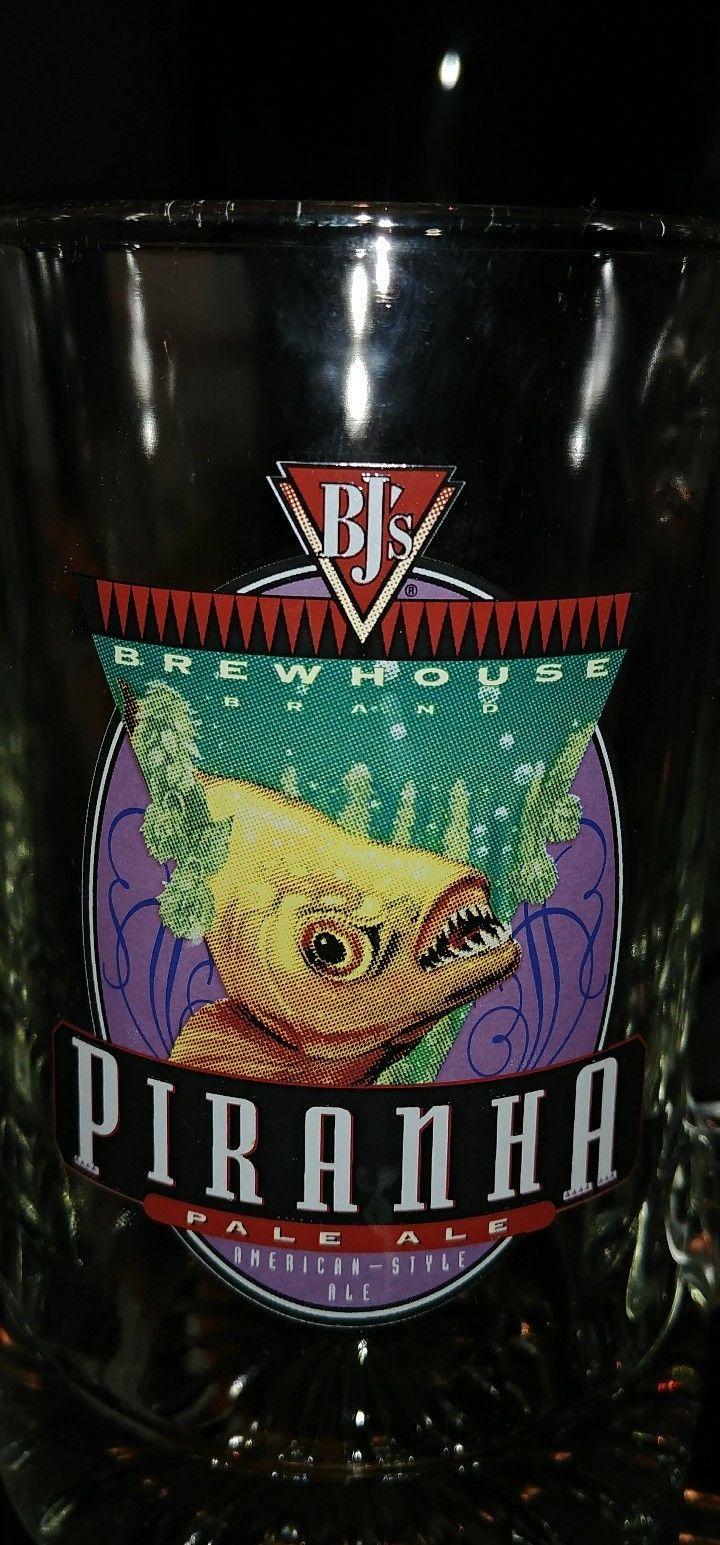 Bjs Brew House Restaurant Mug Stein Piranha Pale Ale