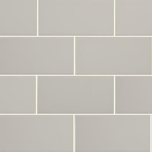 "$3.99 grey subway tile 5th Avenue 3"" x 6"" - Grey Glossy By SouthCypress.com"
