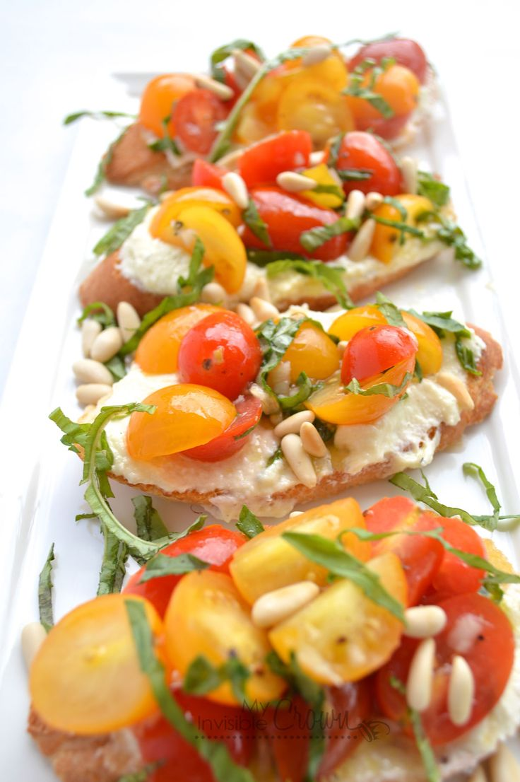 Whipped Feta and Tomato Crostini Appetizer  by My Invisible Crown