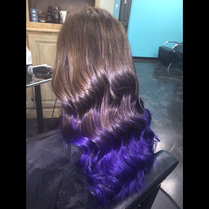 Vibrant purple ombre by Rachel