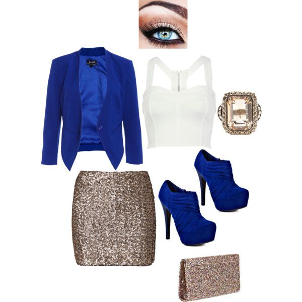Royal Blue and Gold - Polyvore