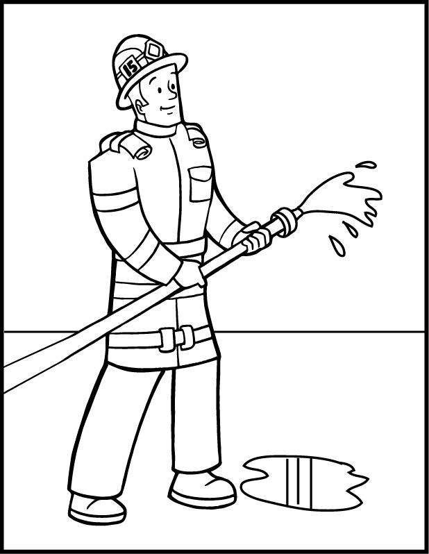 Firefighter Coloring Pages Photos PNG Image 618 X 798